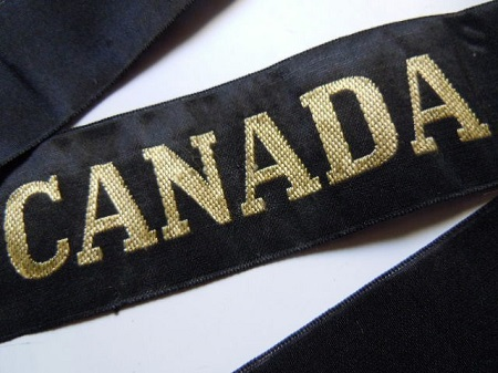 CANADA Navire Hopital 1939 RUBAN LEGENDE ORIGINAL CAP TALLY